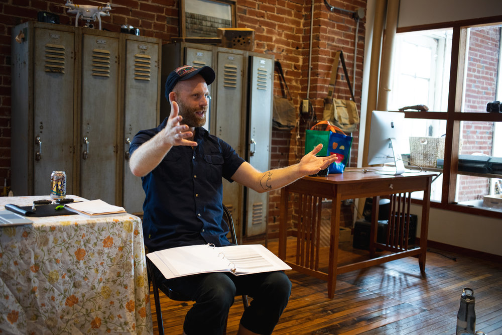 Chris teaching a day-long workshop in St. Louis this summer (photo: C. Bauer)