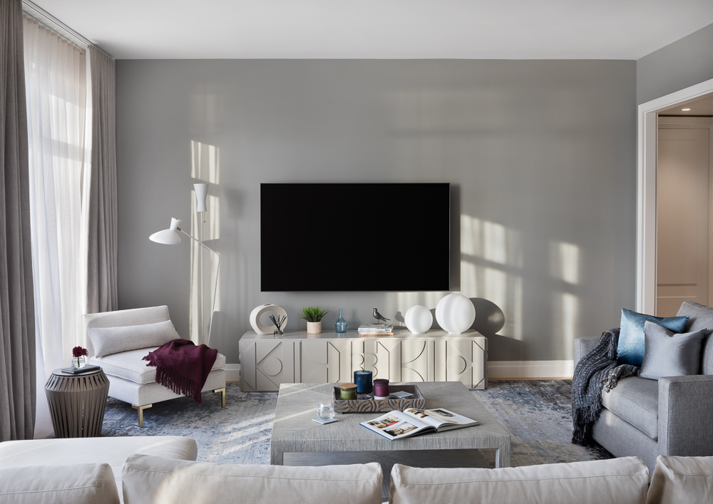 Living room at 70 Vestry Apt designed by Gotham Hideouts