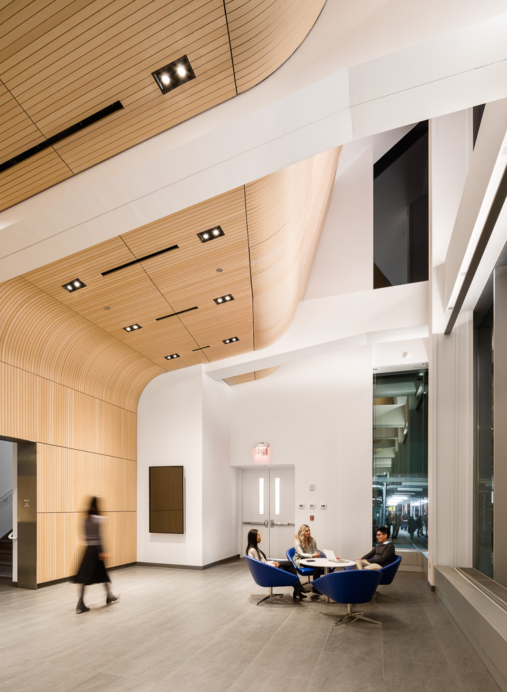 Alumni Auditorium at Columbia University Medical Center designed by MdeAS Architects