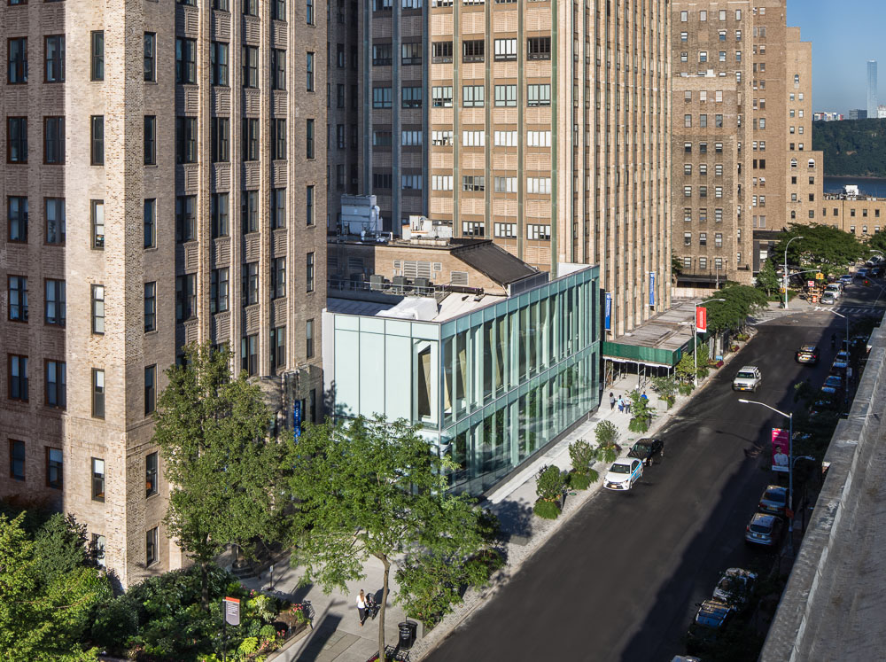 Alumni Auditorium view from the rooftop at Columbia University Medical Center designed by MdeAS Architects
