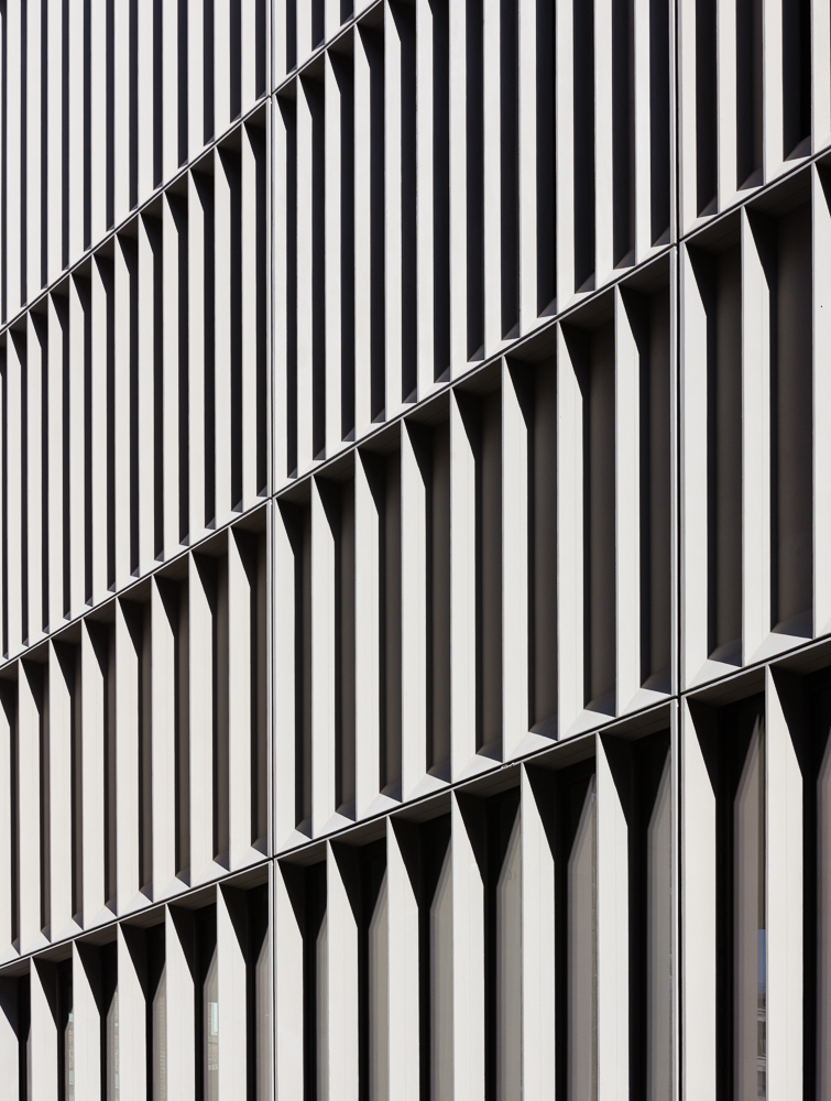 Details shot of Townhouses facade designed and developed by  Alloy