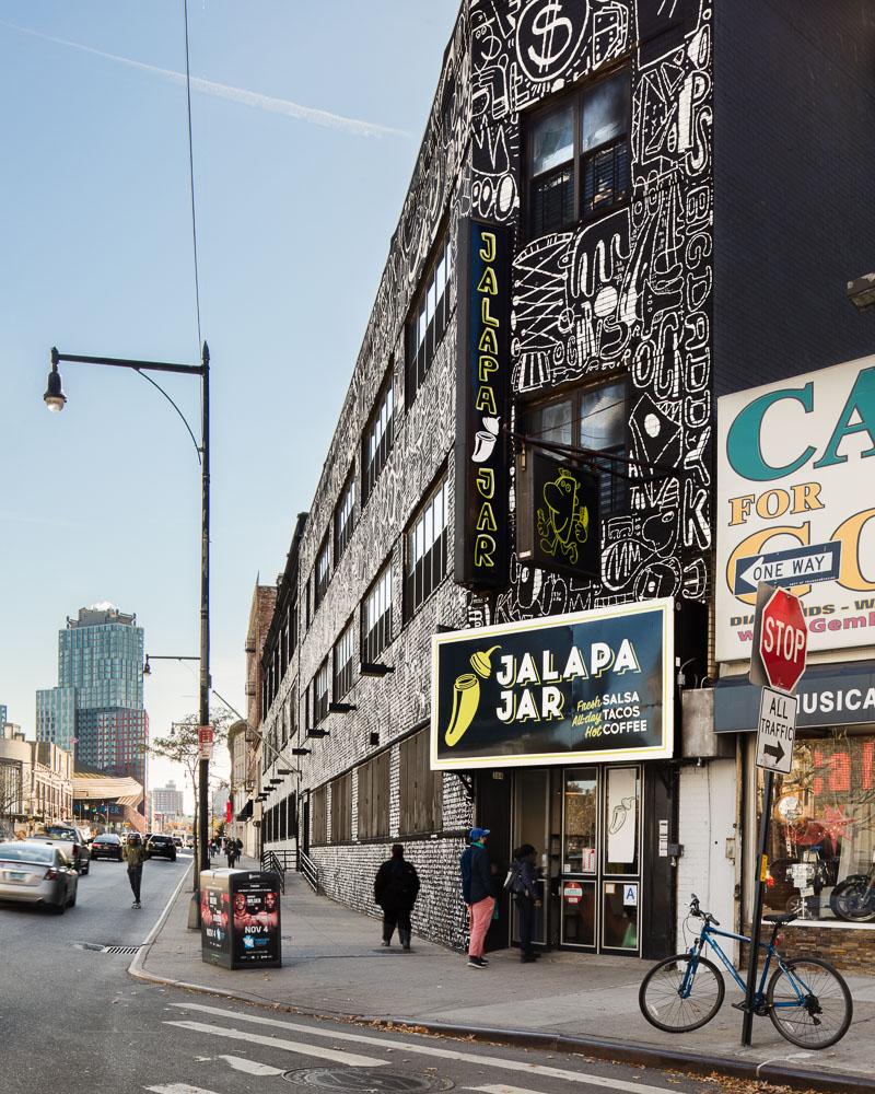 80 Flatbush by Alloy Development in Brooklyn Mural by the artist Katie Merz