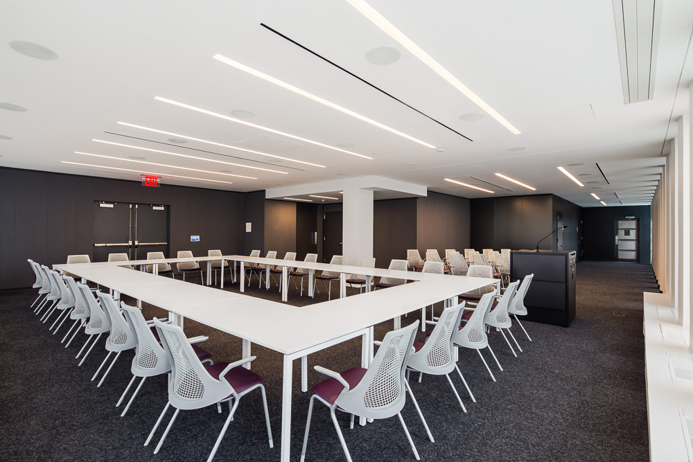 Columbia Law School Conference room setup