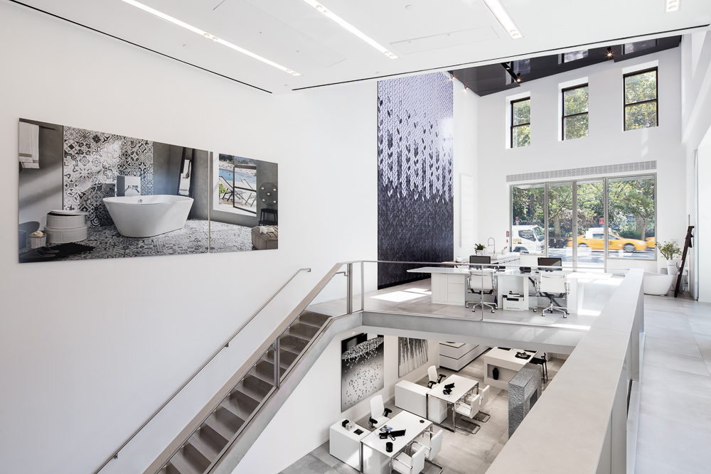 Interior design of Porcelanosa's Flagship Showroom New York