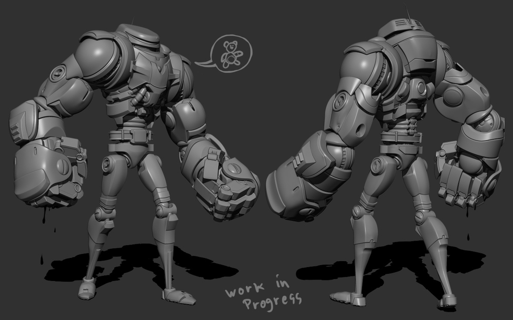 Character model/design just waiting for textures.