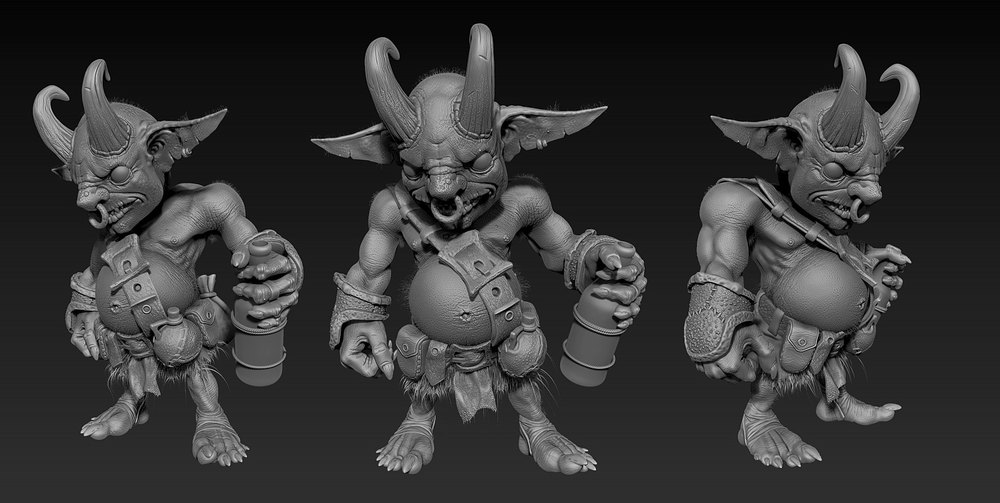 This sculpt was inspired by some concept art from Duelisto