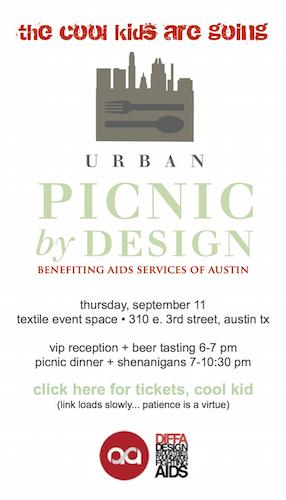 DIFFA's Urban Picnic | Robin Colton Interior Design Studio Austin Texas Blog | www.robincolton.com