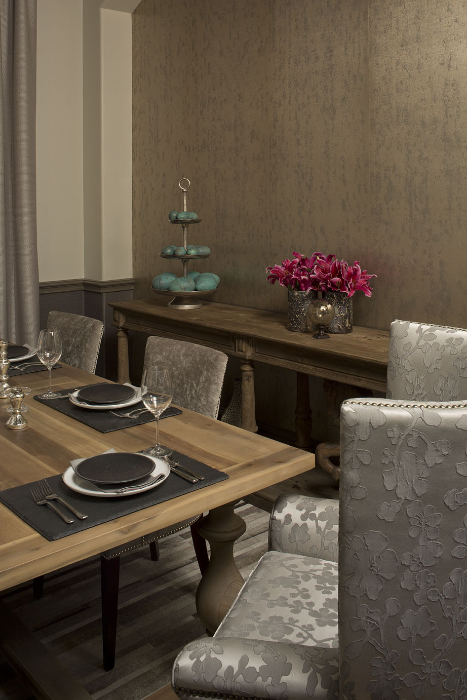 Robin Colton Interior Design Studio Austin Texas Steiner Ranch Dining Table