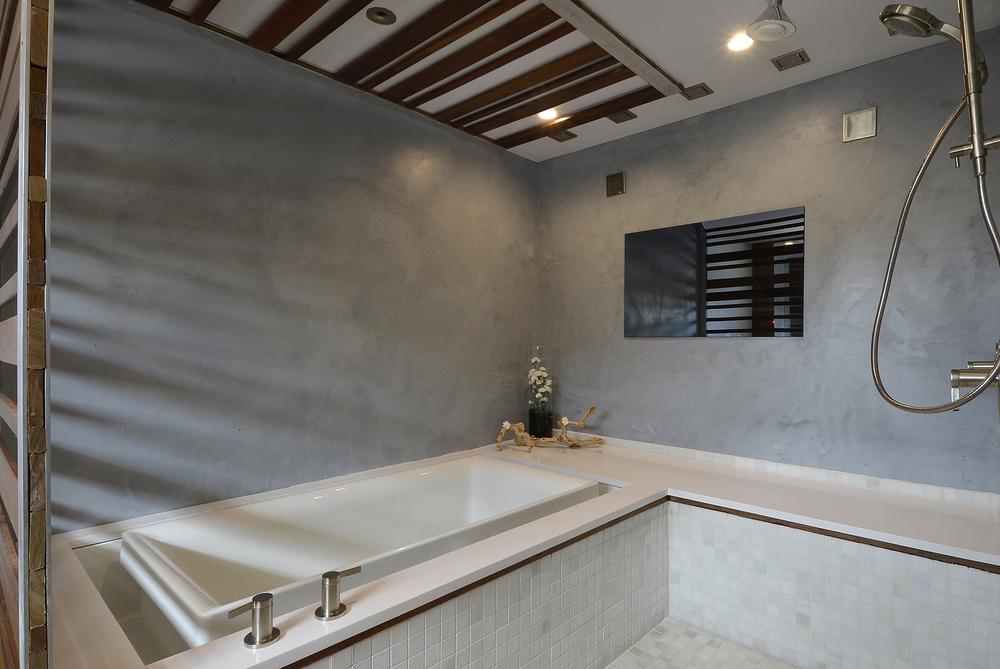 Robin Colton Interior Design Studio Austin Texas Lakeway Bathroom TV