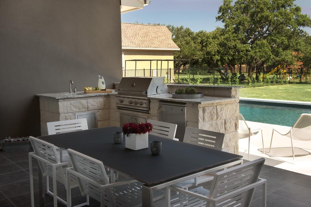 Robin Colton Interior Design Studio Austin Texas Brodie Springs Outdoor Dining