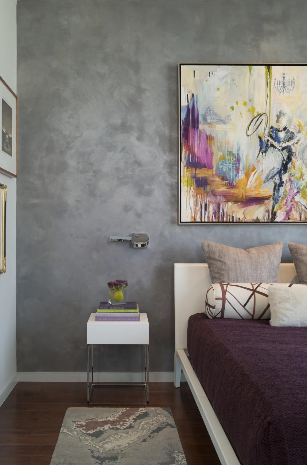 Master bedroom Austonian Austin TX Robin Colton Interior Design Studio