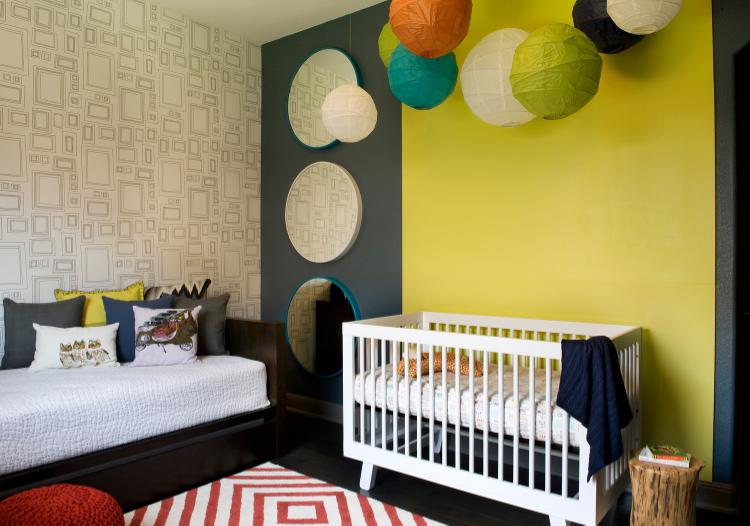 Contemporary Colorful Nursery Brodie Springs Austin TX Robin Colton Interior Design Studio