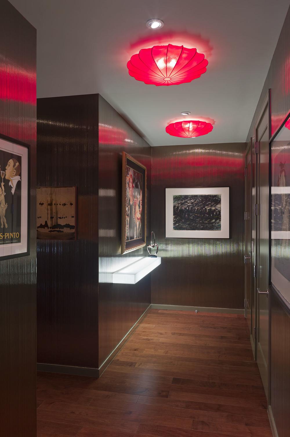 Austonian Hallway : Robin Colton Interior Design Studio : Austin, TX