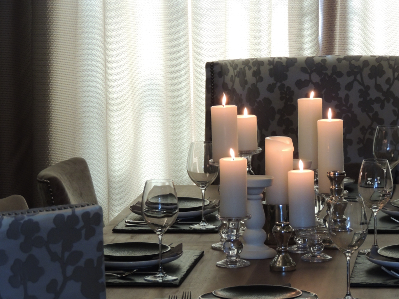 Table scape with candles