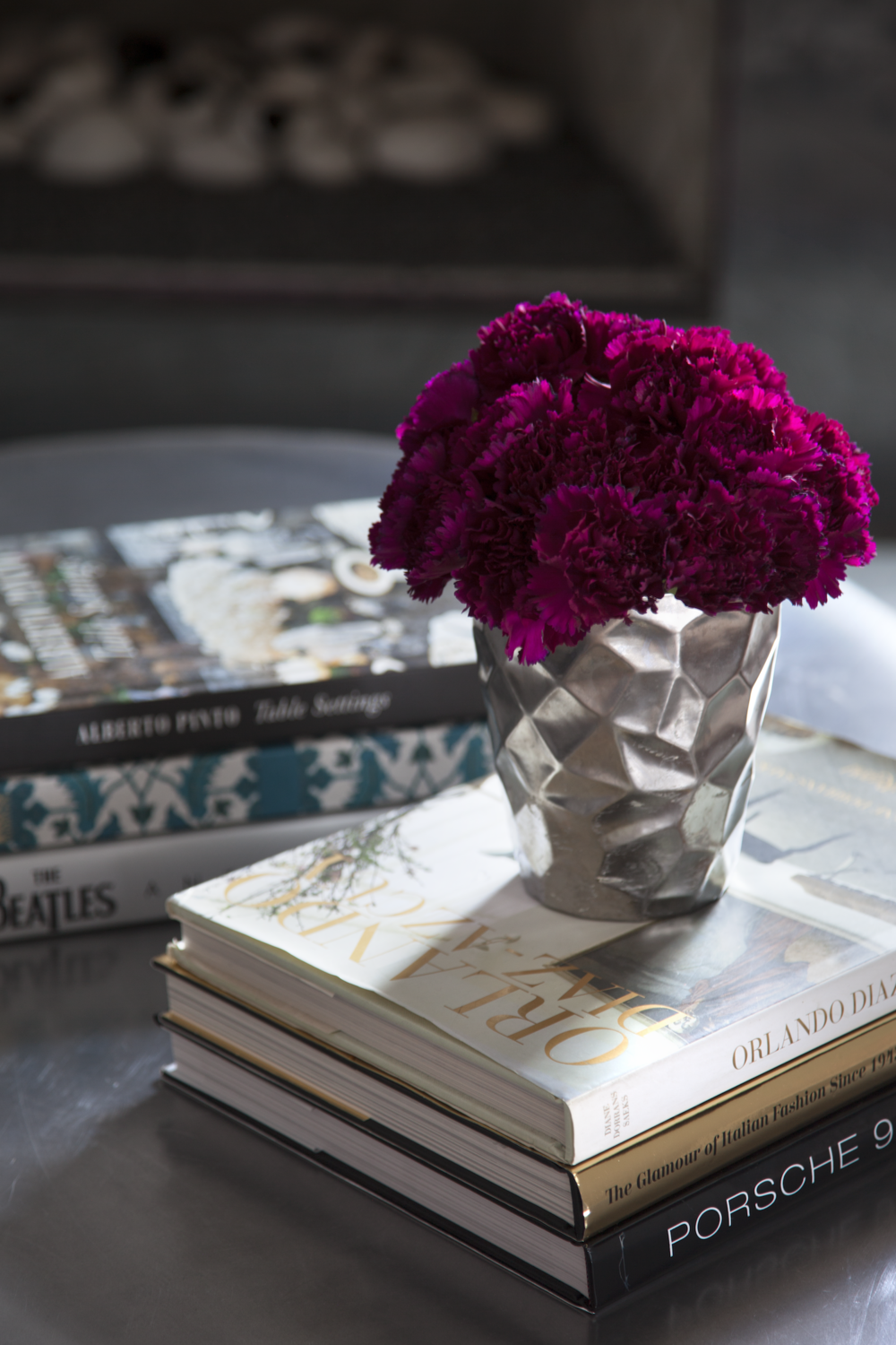 Purple Flowers and Books Tarrytown Austin Robin Colton Interior Design.png