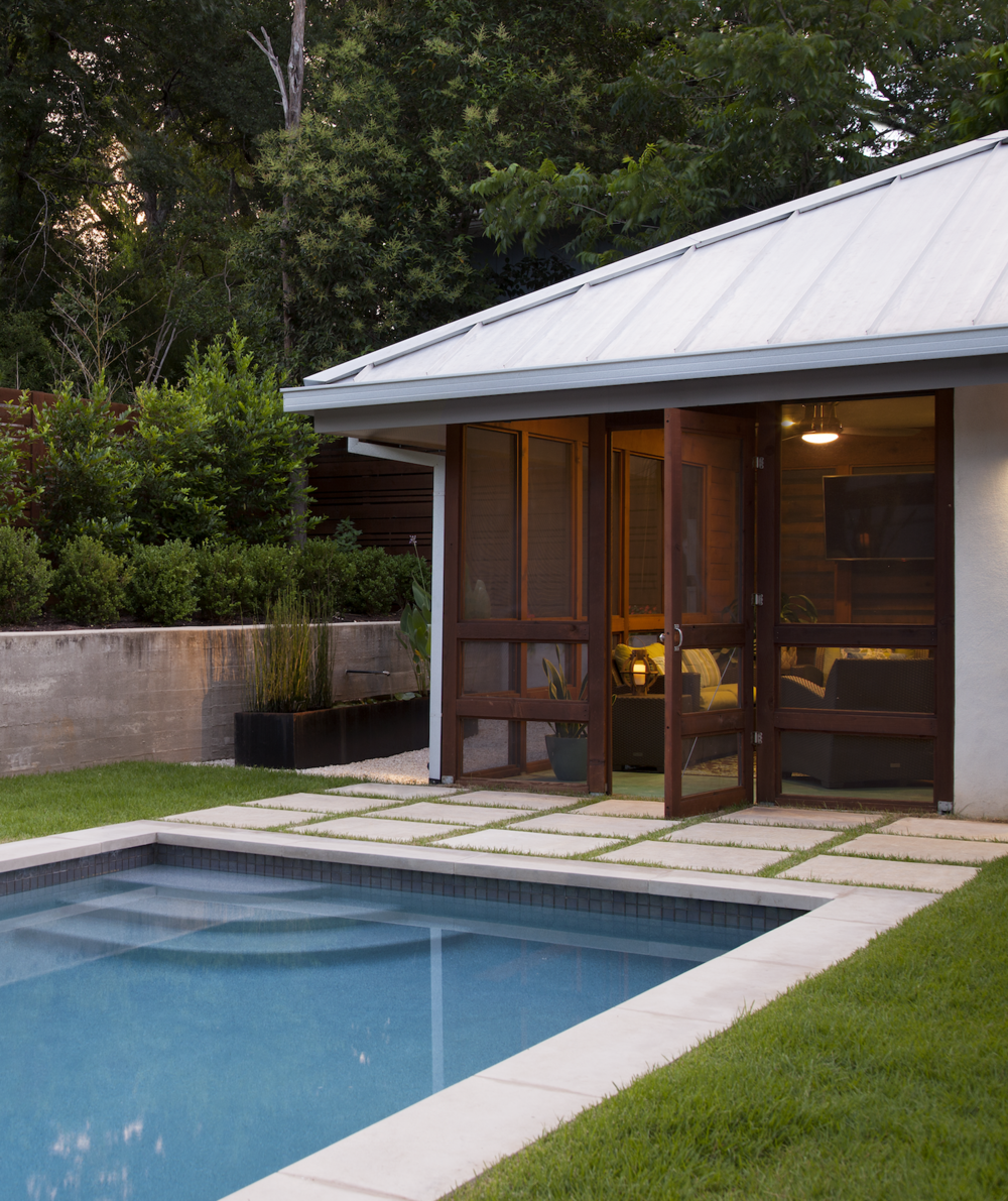 Screened Porch and Pool Tarrytown Austin Robin Colton Interior Design.png