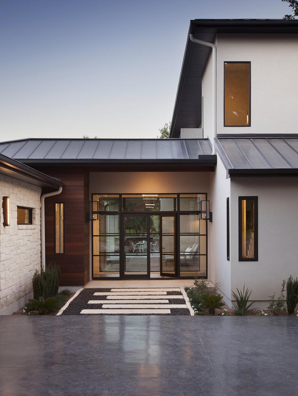 Parade Home Front Exterior Horseshoe Bay Robin Colton Interior Design