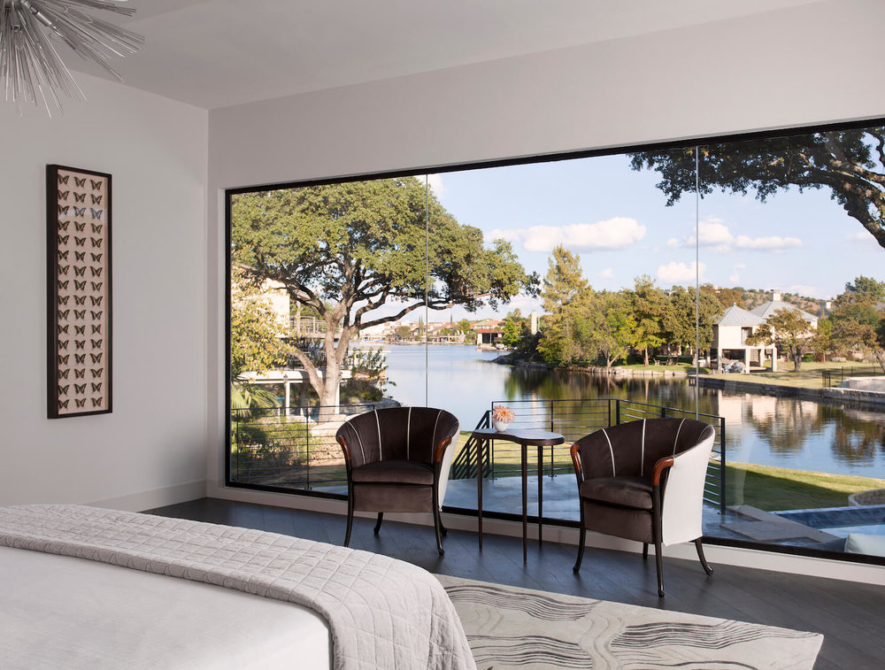 Robin Colton Interior Design Studio Lake View Master Bedroom