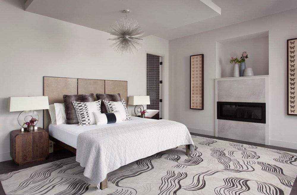 Robin Colton Interior Design Studio Horseshoe Bay Master Bedroom