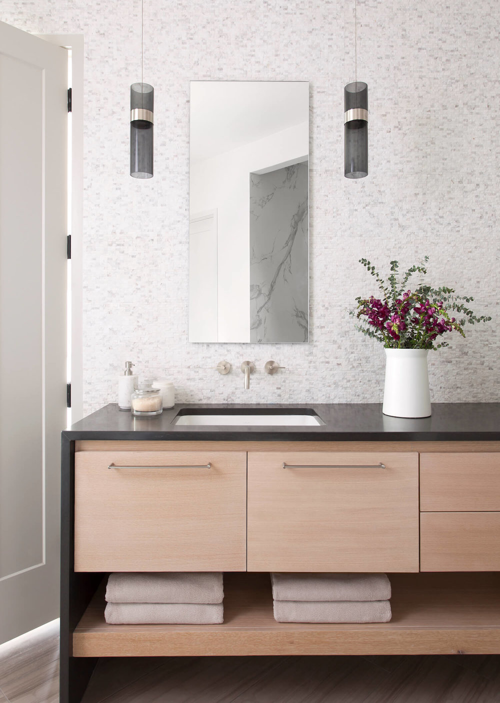 Horseshoe Bay Master Bathroom | Robin Colton Interior Design Studio Austin Texas | www.robincolton.com