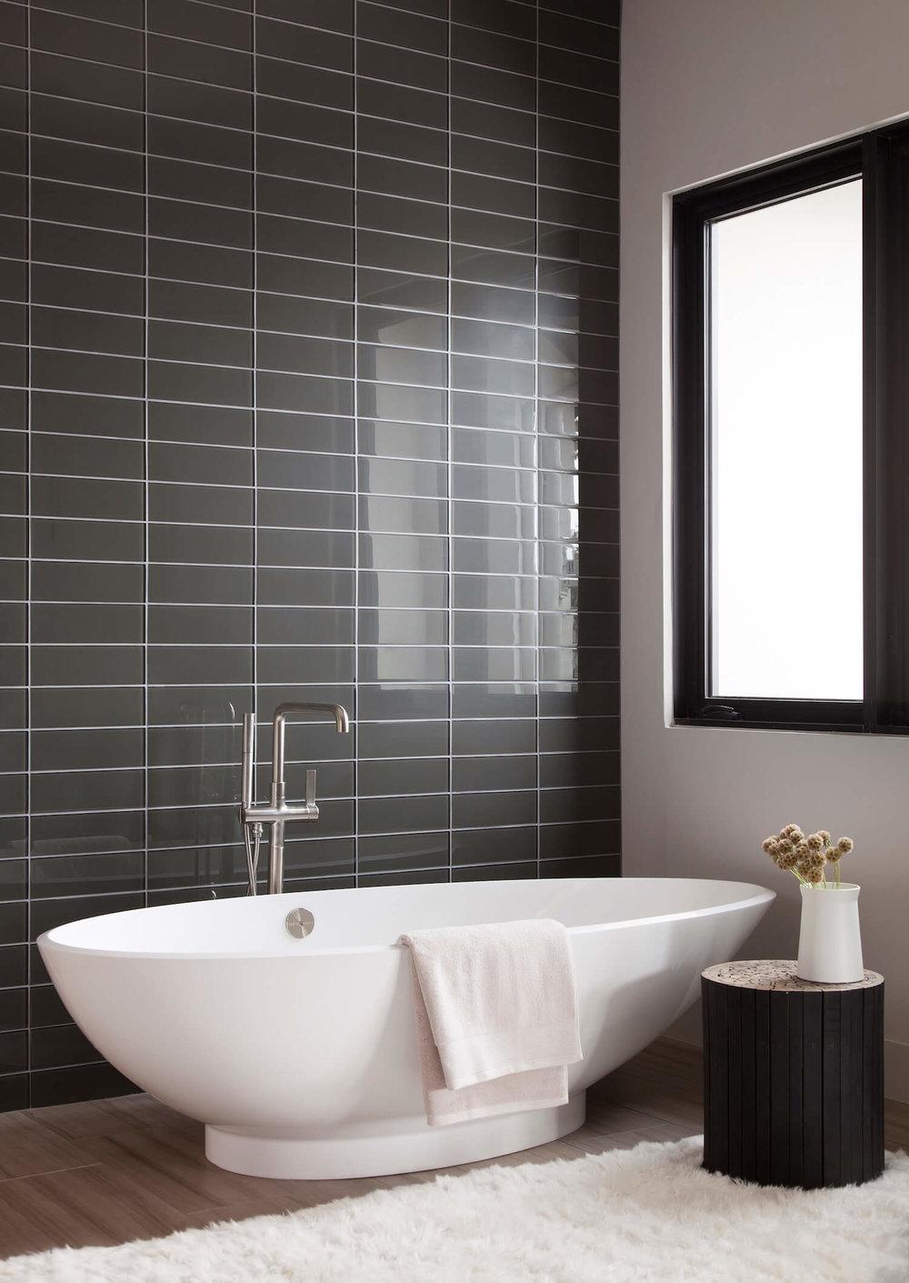 Robin Colton Interior Design Studio Horseshoe Bay Master Bath Tub