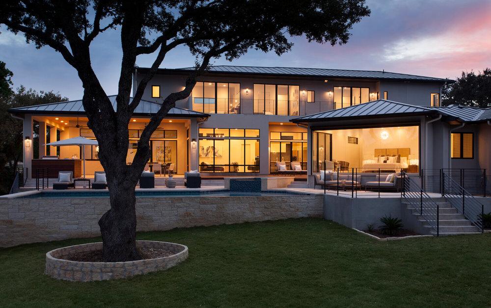 Robin Colton Interior Design Studio Horseshoe Bay At Night