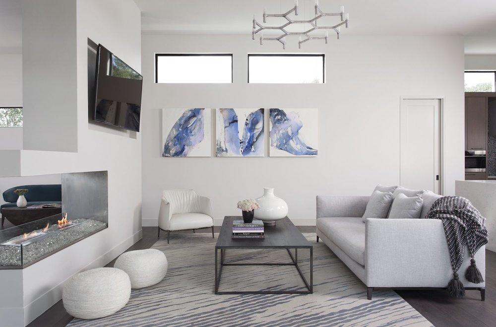 Robin Colton Interior Design Studio Horseshoe Bay Living Room