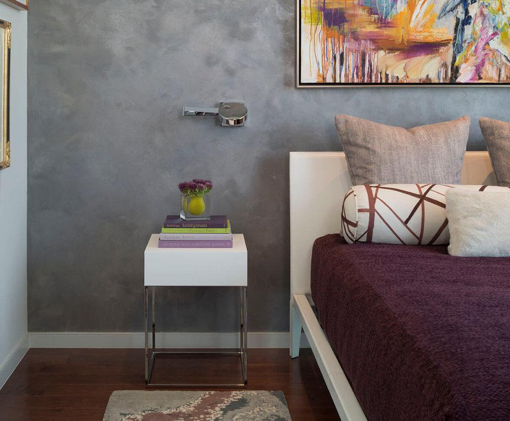 Robin Colton Interior Design Studio Austonian Master Bedroom Detail