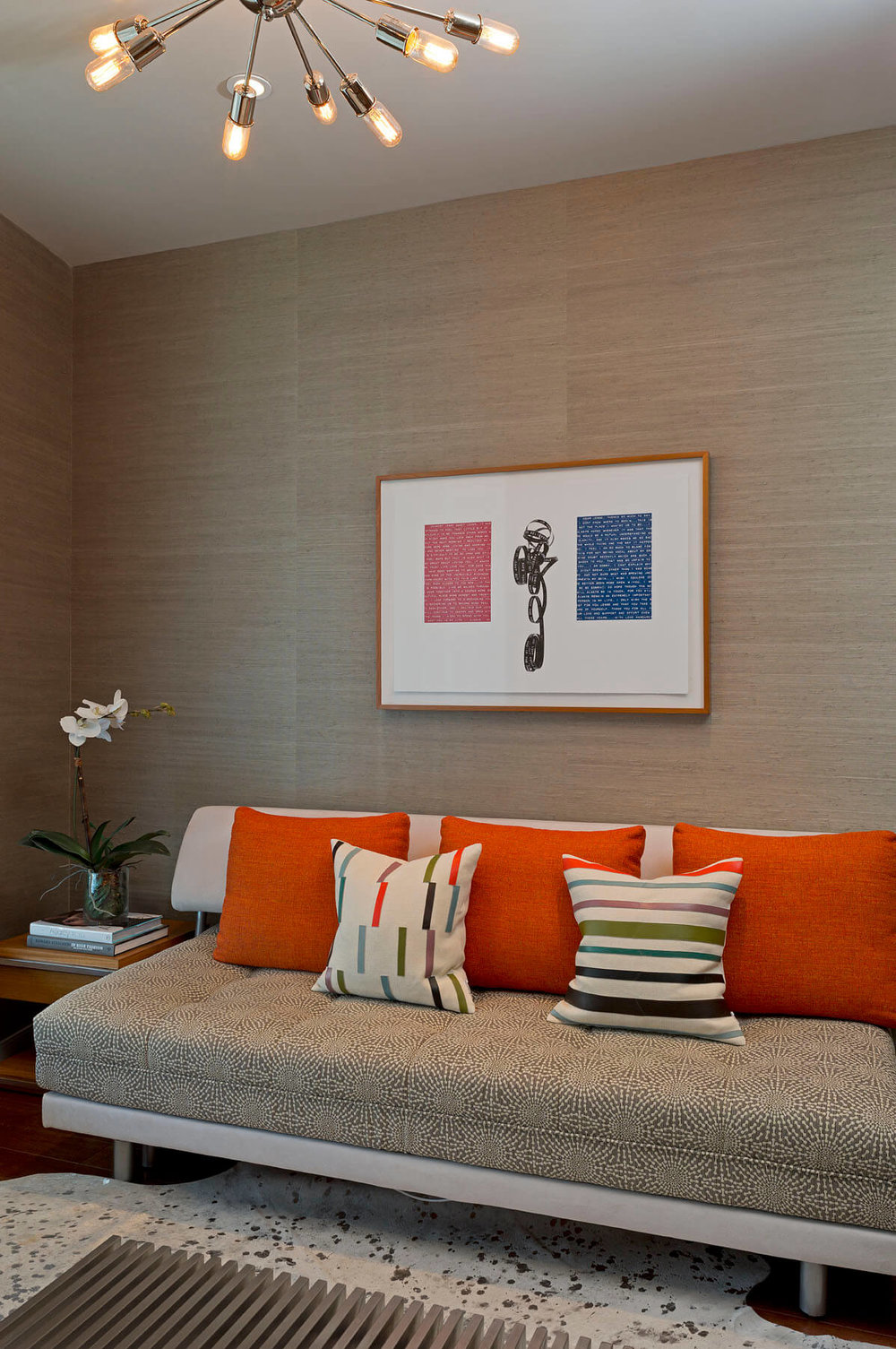 Austonian Office and Guest Bedroom | Robin Colton Interior Design Studio Austin Texas | www.robincolton.com
