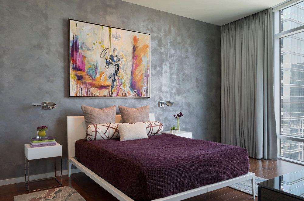 Robin Colton Interior Design Studio Austonian Master Bedroom