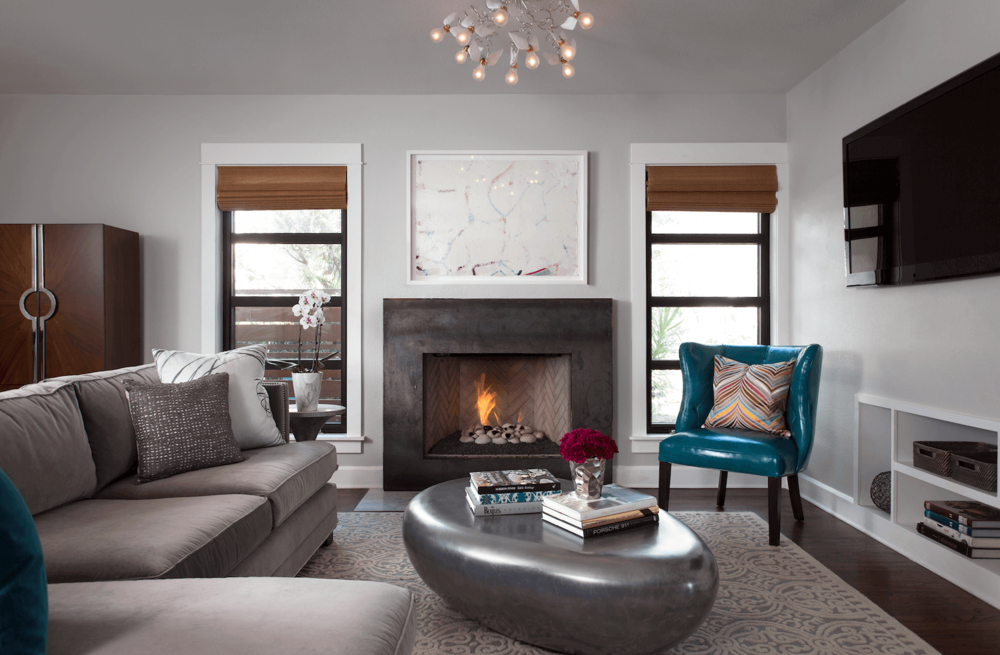 Robin Colton Interior Design Studio Austin Tarrytown Living Room