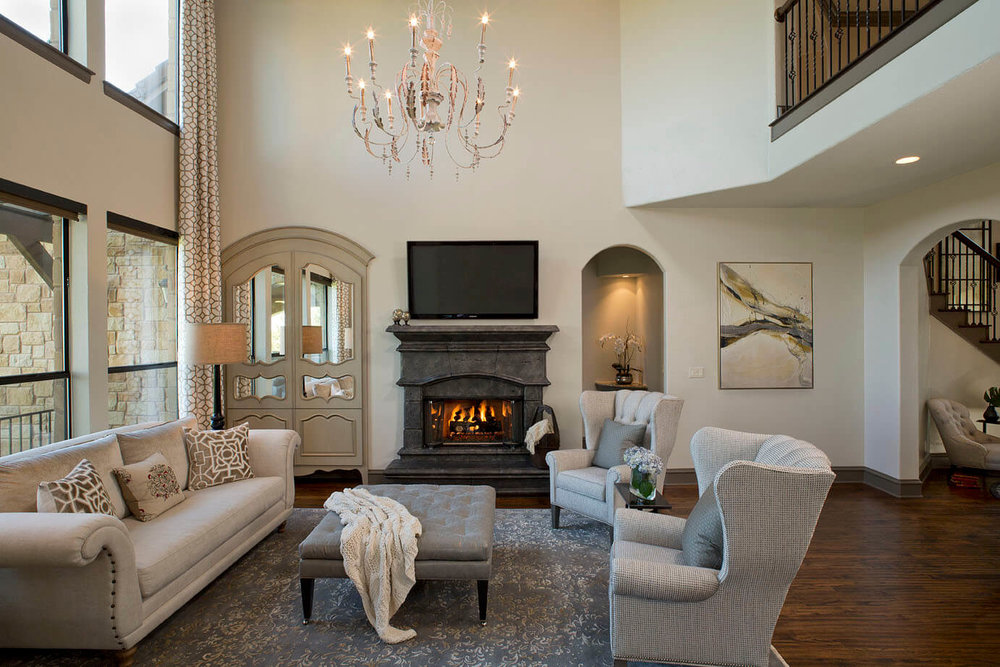 Robin Colton Interior Design Studio Austin Steiner Ranch Living Room Fireplace