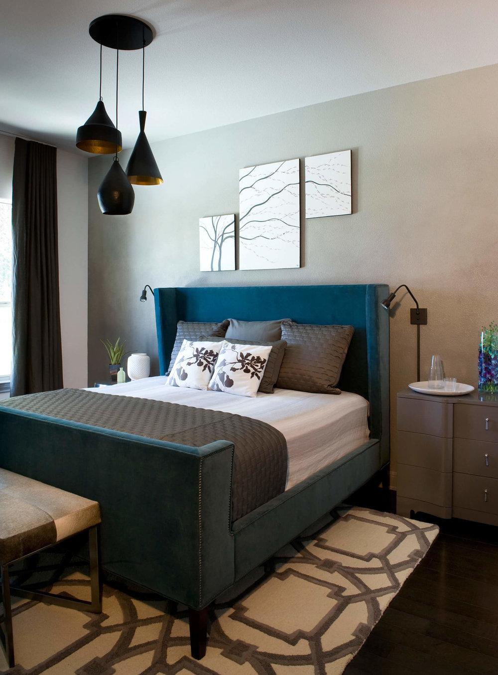 Brodie Springs Guest Bedroom | Robin Colton Interior Design Studio Austin Texas | www.robincolton.com