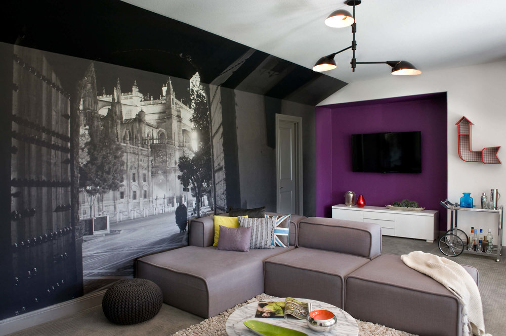 Robin Colton Interior Design Studio Austin Brodie Springs Wall Mural