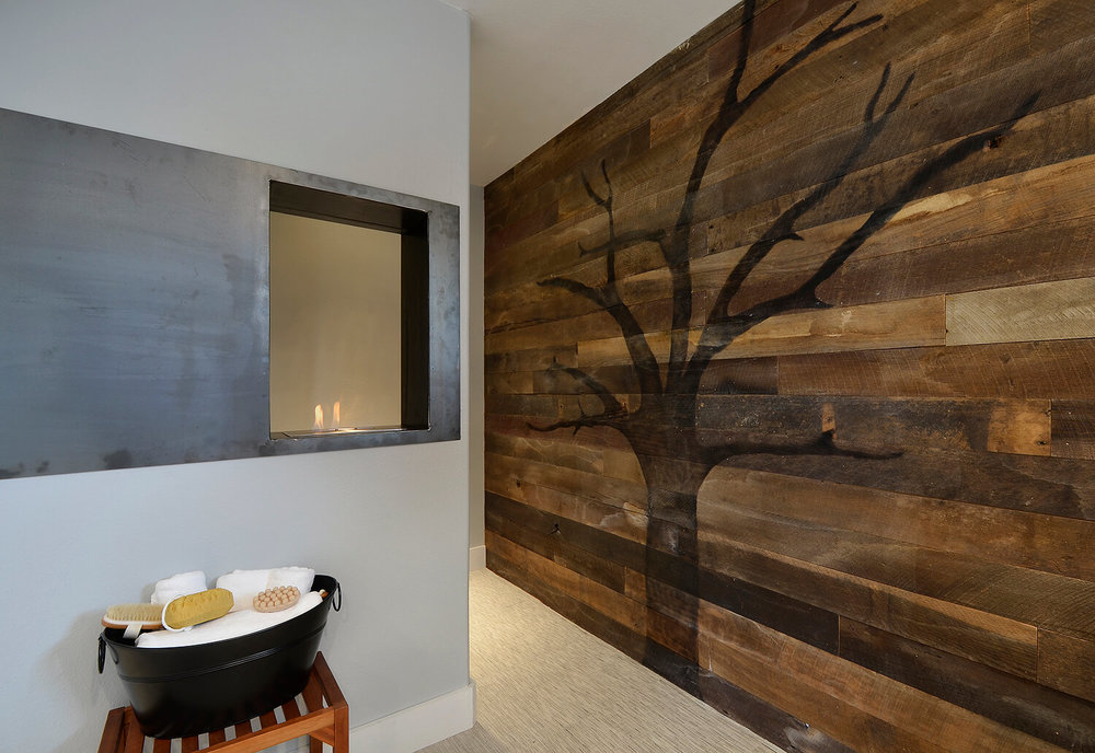 Robin Colton Interior Design Studio Austin Lakeway Master Bathroom Burned Tree