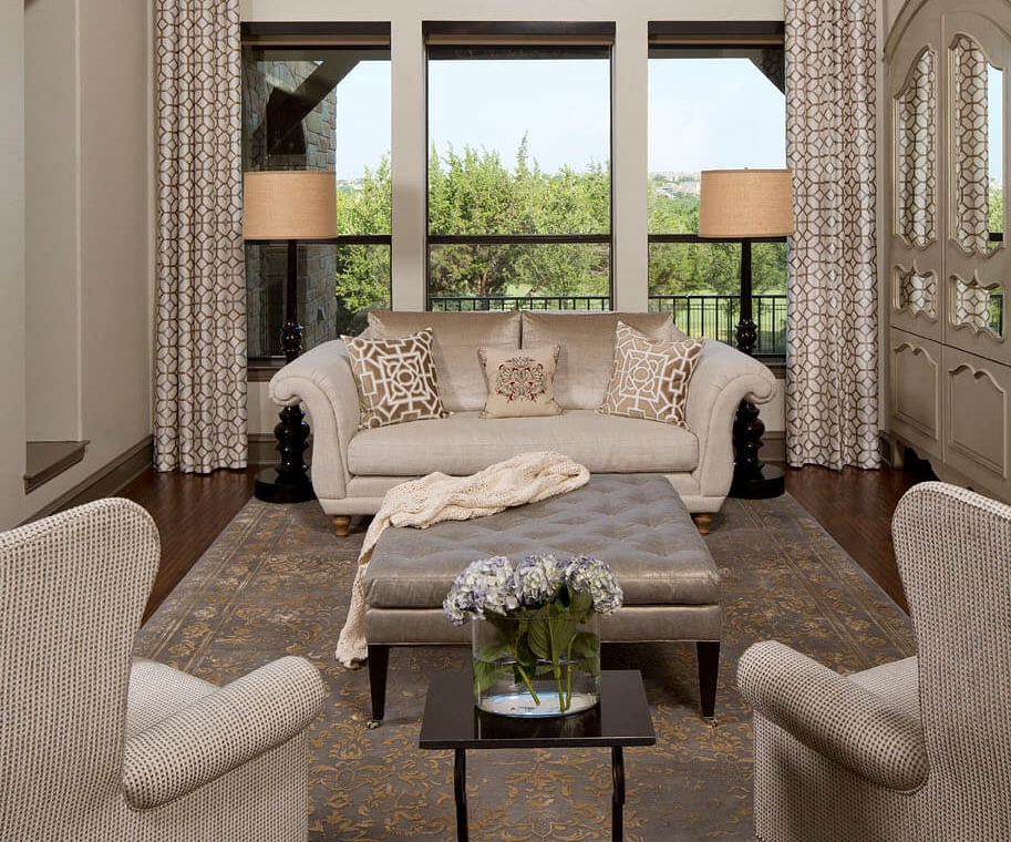 Robin Colton Interior Design Austin Steiner Ranch Living Room