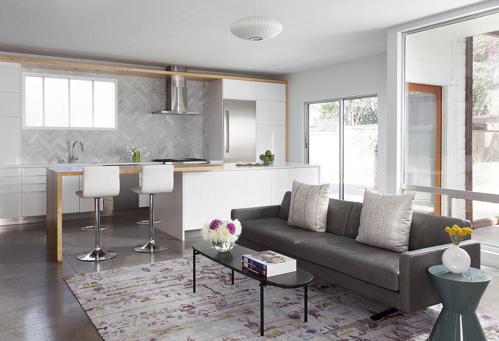 North Central Austin Condo Living Room | Robin Colton Interior Design Studio Austin Texas | www.robincolton.com