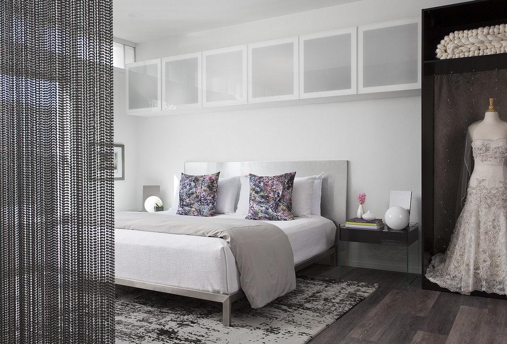 North Central Austin Condo Master Bedroom | Robin Colton Interior Design Studio Austin Texas | www.robincolton.com