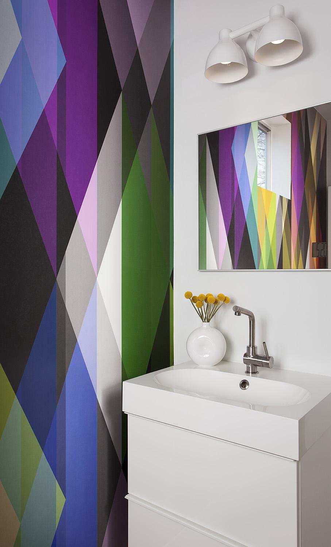 North Central Austin Condo Powder Room | Robin Colton Interior Design Studio Austin Texas | www.robincolton.com