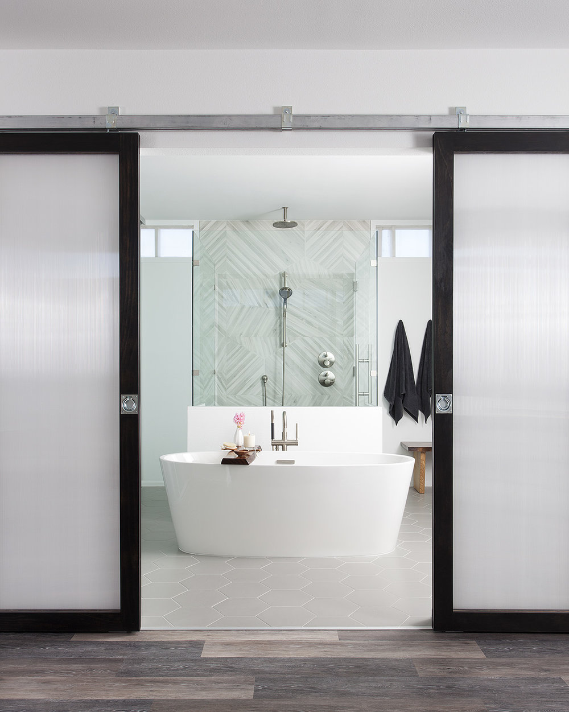 North Central Austin Condo Master Bathroom | Robin Colton Interior Design Studio Austin Texas | www.robincolton.com