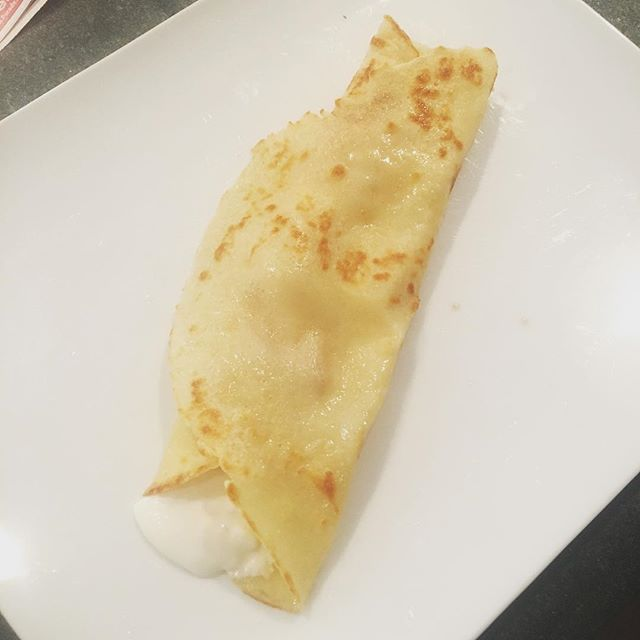 In honor of France winning the World Cup!!! 🇫🇷 ⚽️ 🏆 #crepesforlunch #hommemade #madewithlove #worldcup2018 #france #thebeautifulgame Thank you @mykol_see 😘