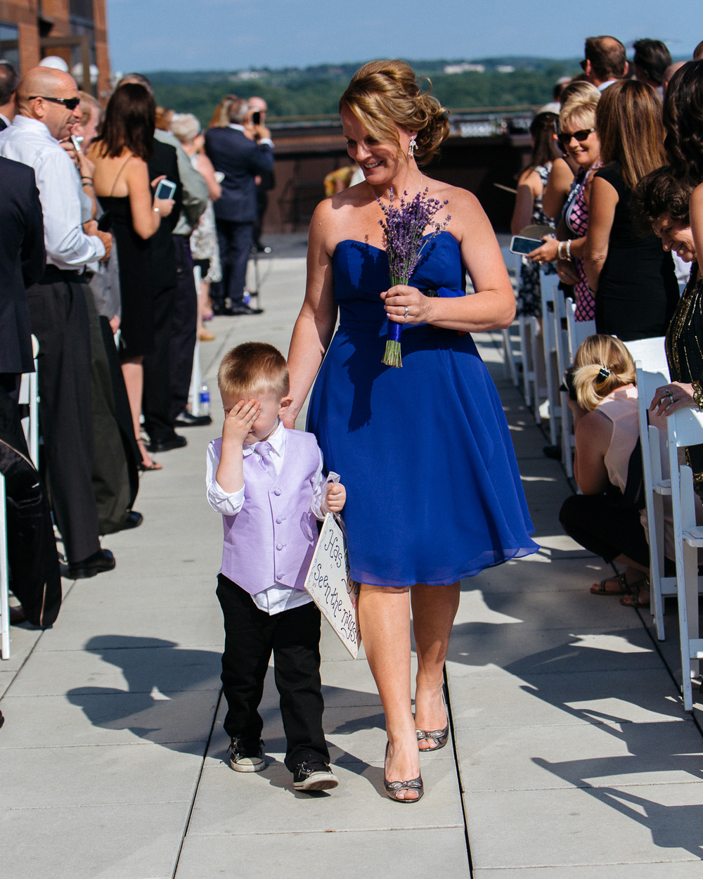 The ring bearer was feeling shy. It was awesome.