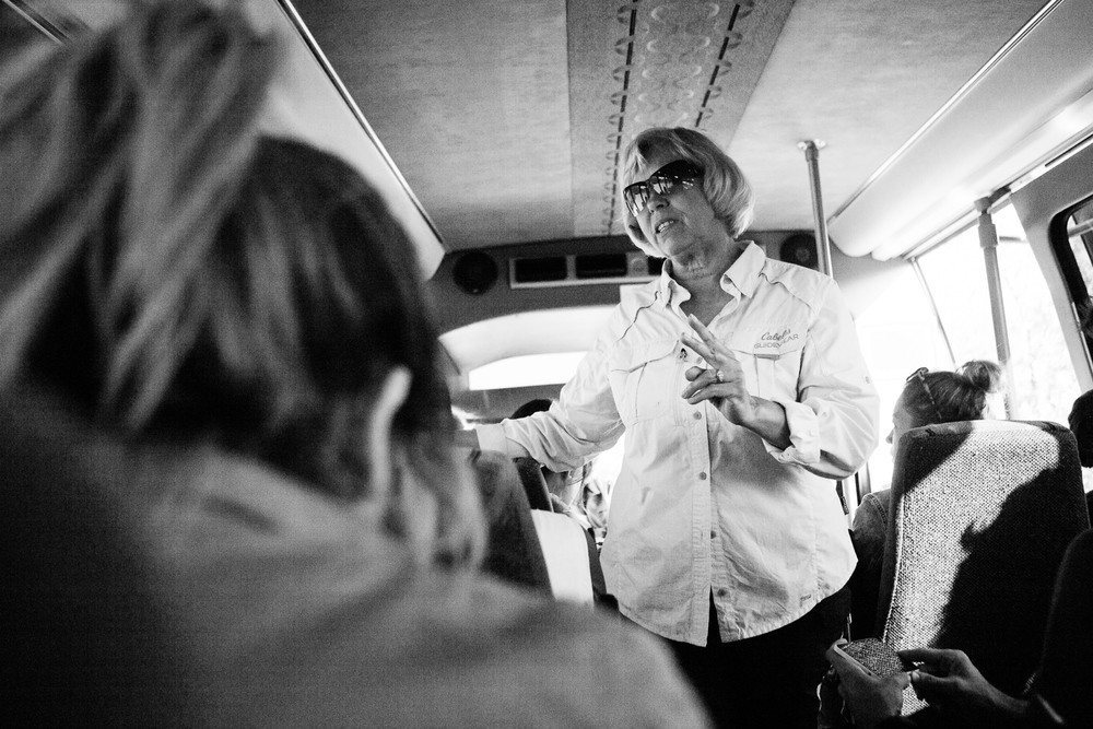 This was our tour guide Dot. She drove the bus and shared innumerable facts about Alaska. (DSLR)