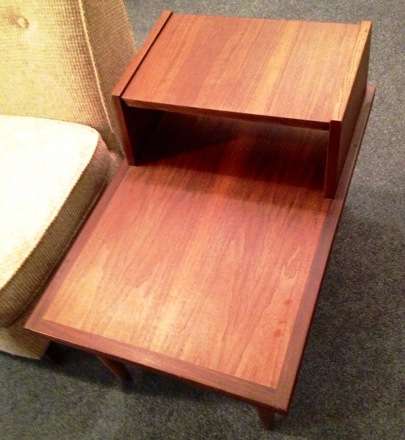 pair of mid century end tables
