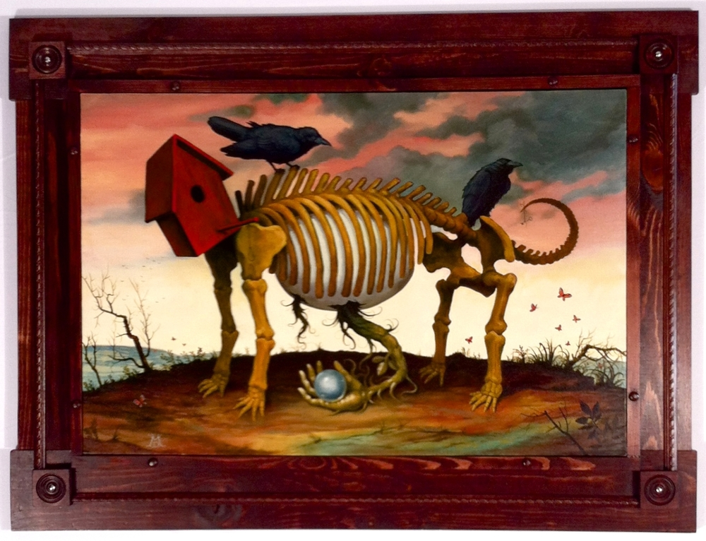 "Mike Davis ""Lost and Found"" Oil on canvas 34.5x46 $3200"