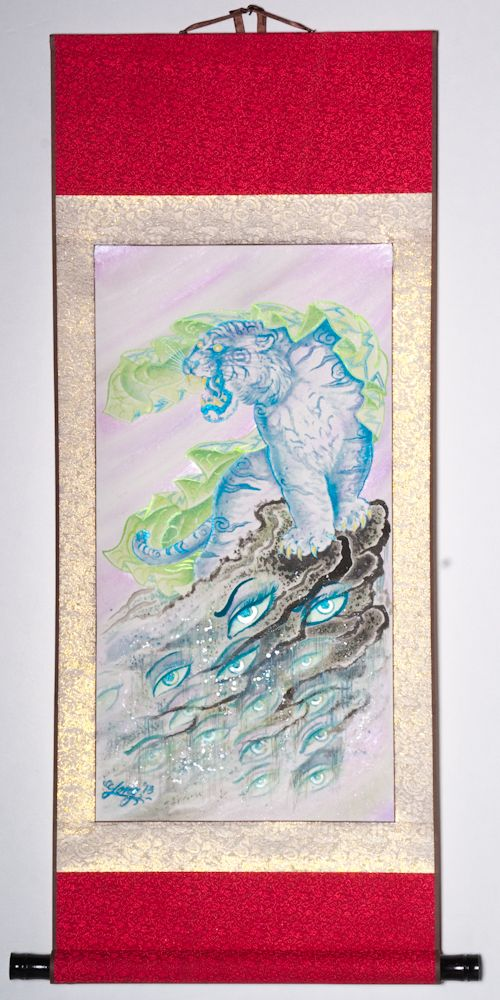 "Veiled Tiger 39""x19"" $1250.00"