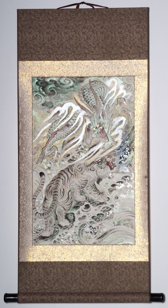 "Dragon and Earth 36""x20"" $1600.00"