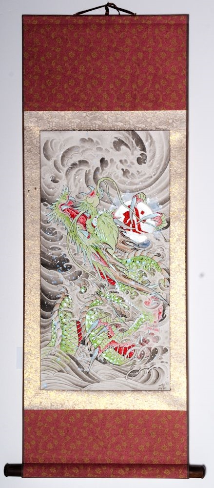 "Water Dragon 42""x18"" $1700.00"