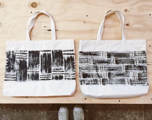 Tote bag hand painted on canvas $25 each.