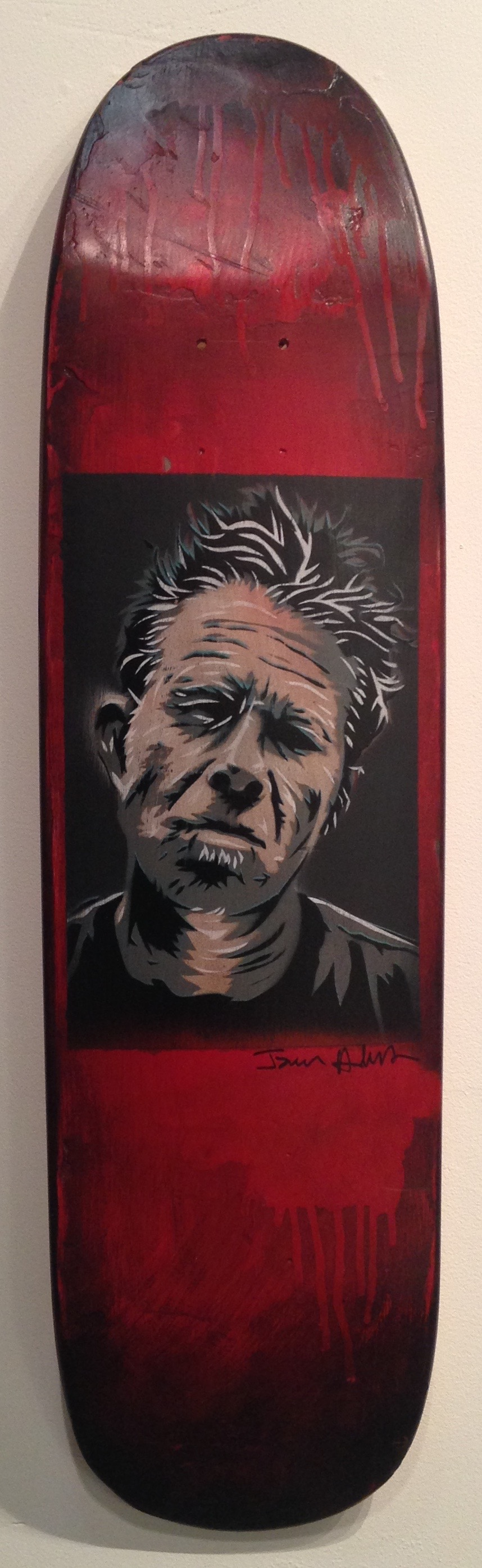 """Tom Waits"" skateboard deck $250"